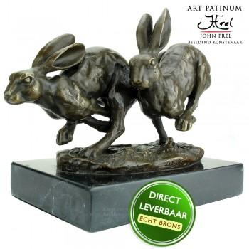 Hazen bronzen beeld Art Unica