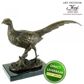 Bronzen beeld Fazant Art Unica