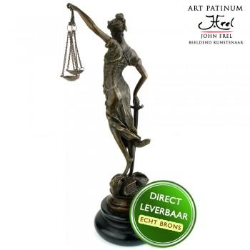 Vrouwe Justitia beeldje Art Unica