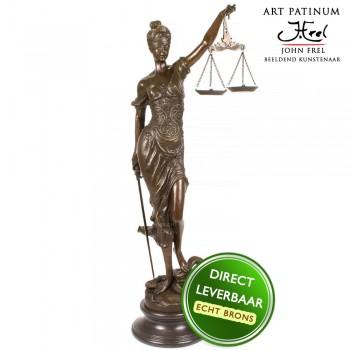 Vrouwe Justitia bronzen beeld 100cm