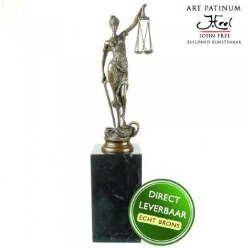 Bronzen beeld Vrouwe Justitia Art Unica