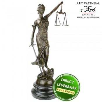 Vrouwe Justitia beeld brons Art Unica
