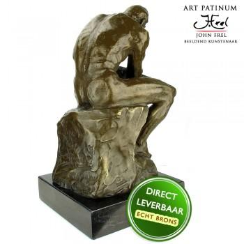 De Denker bronzen beeld Art Unica