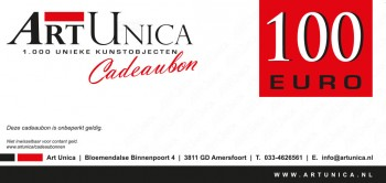 Cadeaubonnen Art Unica 100 Euro