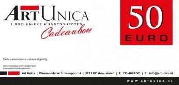 Cadeaubonnen Art Unica 50 Euro