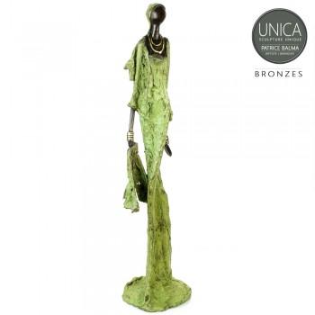 Afrikaanse kunst brons beeld vrouw titel Caresse