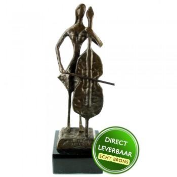 Celliste bronzen beeldje