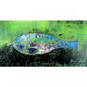 Schilderij Fish in Blue and Green