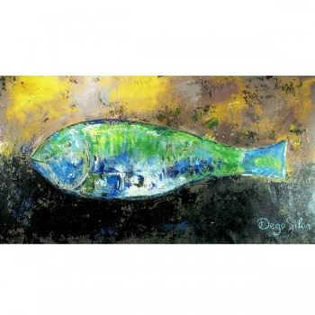 Schilderij Fish in Yellow and Green Art Unica Amersfoort