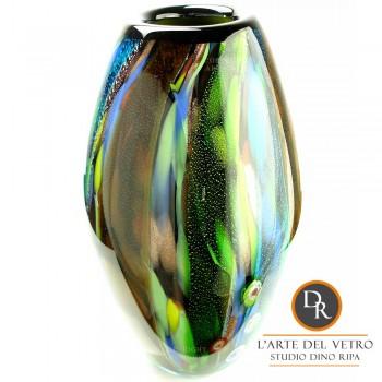Glaskunst vaas Forli Dino Ripa