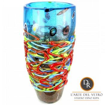 Glaskunst vaas San Marino Dino Ripa