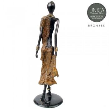 Bronzen beeld vrouw Afrikaaans Josiane Unica
