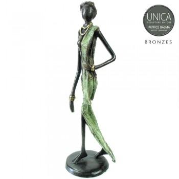 Africa Art beeld brons Kadidia