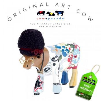 Art Cow Koebeeldje beschilderd groot Art Unica