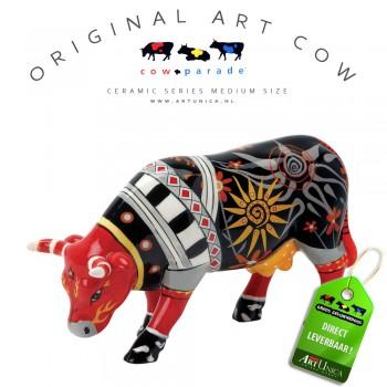 Koeienbeeldje Keramiek Art Cow Mucca Areniana Art Unica