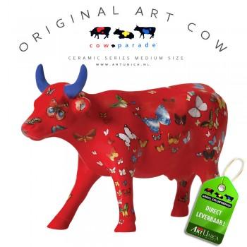 Art Cow Koe beeldje keramiek Klaricious Art Unica
