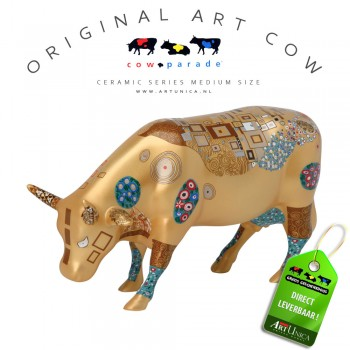 Art Cow koeienbeeldje keramiek Klimt Cow Art Unica