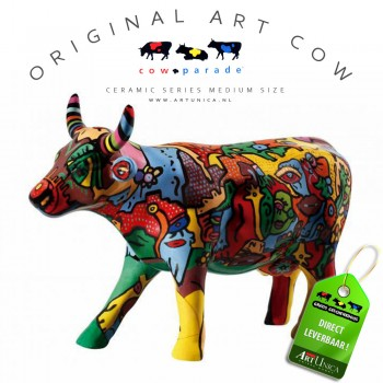 Cow Parade Koebeeldjes keramiek Art Unica