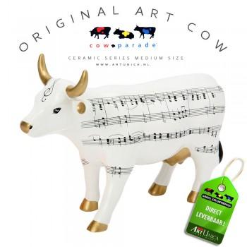 Art Cow Koeienbeeldje keramiek Muu-sik Unica