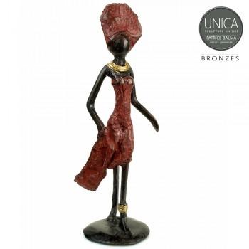 Ninon Bronzen beeldje Afrikaanse vrouw