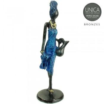Oriane Beeldje brons Afrikaanse vrouw