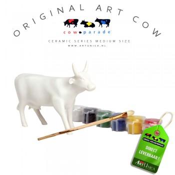 Zelf Art Cow Koebeeldje schilderen Art Unica