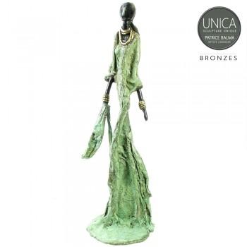 Afrikaans bronzen beeld titel Philou