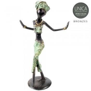 Happy! Afrikaans beeldje brons 2