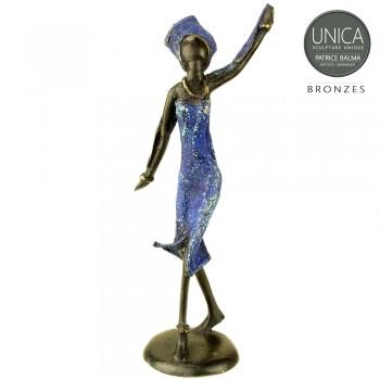 Afrikaans beeldje brons Stephanie