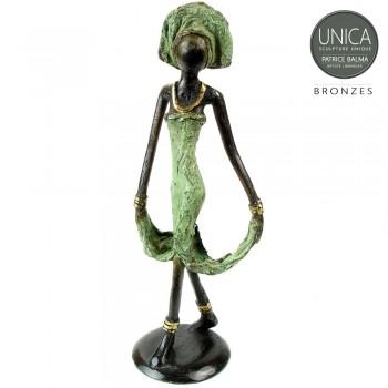 Afrikaans beeldje brons vrouw