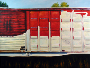 Schilderij Wagon Story, Kunst Galerie en Kunstwinkel Art Unica