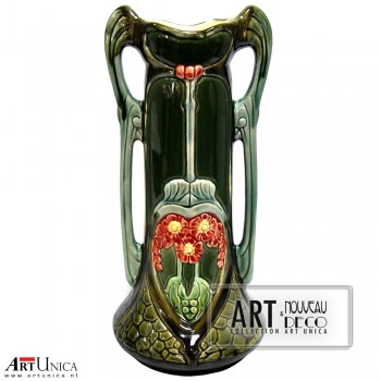 Siervaas porselein Art Nouveau Art Unica