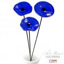 Blauw Glaskunst bloemen boeket