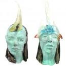 Zelos en Nike keramiek glassculpturen