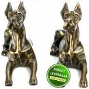 Bronzen beeldjes Dog voor