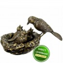 Vogelnest bronzen beeld