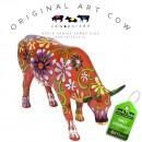 Flower Lover Cow Art Cow koebeeld beschilderd