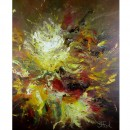 Schilderij Impressionisme John Frel Expressive Flowers