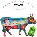 Frida vai a Cancun Art Cow Koebeeld beschilderd