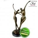 Bronzen beeld Danspaar 2 Art Unica