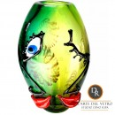 Vaas glaskunst model Faccia Amore Dino Ripa