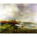 Impressionistisch Schilderij John Frel At The Bay