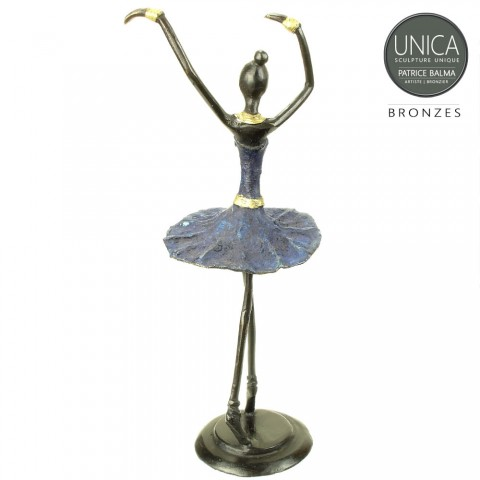 Ballerina beeldje 26cm groen