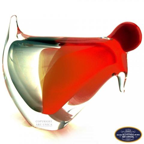 Glaskunst Haan en kippen Art Unica
