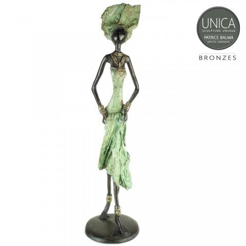 Afrikaans beeld brons Aminata