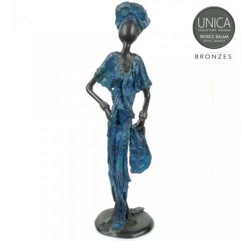 Afrikaans bronzen beeldje Brette