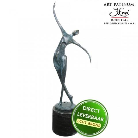 Life Dance Bronzen beeld groen