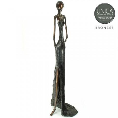 Afrikaanse vrouw beeld brons
