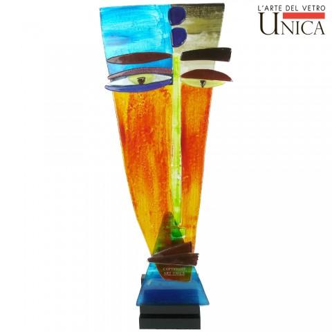 Glassculptuur Artface