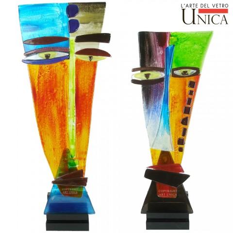 Art Couple set glassculpturen